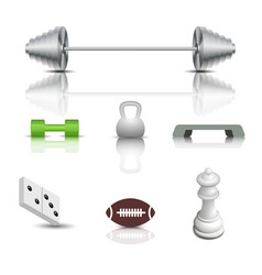 sports and game icons vector image