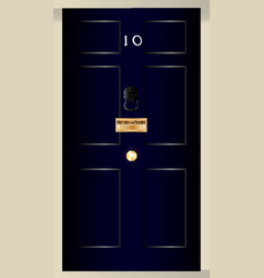 Ten downing street vector
