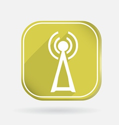 tower of the wi fi Color square icon vector image