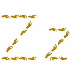 traces letter z vector image