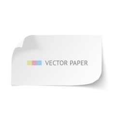 White blank paper curved horizontal banner with vector