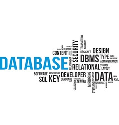 word cloud database vector image