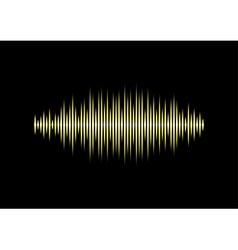 Yellow waveform vector