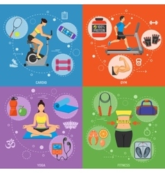 Fitness and Gym Banners vector image vector image