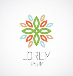 Floral logo template Color leaves ornament concept vector image