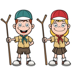 Scout kids vector image vector image