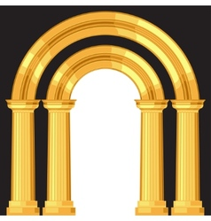 Doric realistic antique greek arch with columns vector image