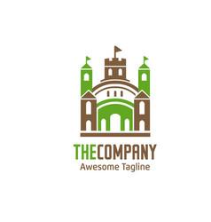 green house palace logo vector image