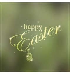 Happy Easter colorful creative card vector image
