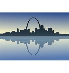 Saint Louis Downtown Riverfront vector image vector image