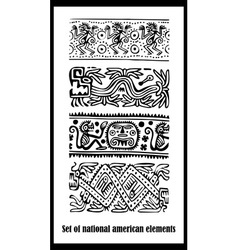 American National Elements Background vector image