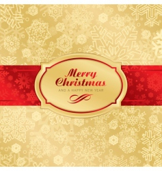 Christmas label background vector image