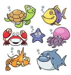 Sea animal vector image
