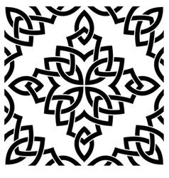 Black Celtic seamless pattern vector image vector image