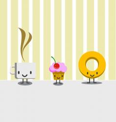 breakfast characters vector image