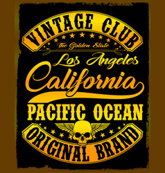 california vintage slogan man t shirt graphic vector image vector image