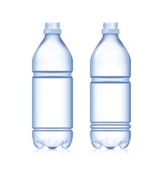 Empty Bottle Set Realistic Blank Plastic Blue vector image vector image