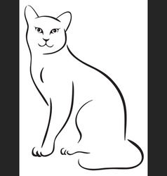 outline cat vector image