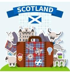 Scotland travel background vector