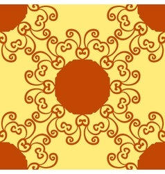 Seamless indian pattern on yellow texture vector