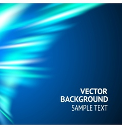 Smooth wave blue design vector image