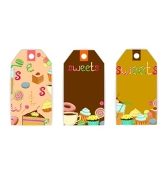 tag sweets coffee vector image