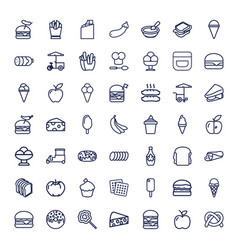 49 snack icons vector