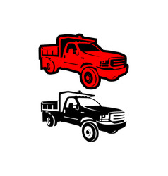 4wd car truck logo vector