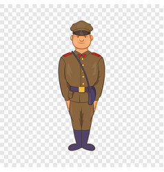 A man in army uniform icon cartoon style vector