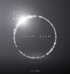 Abstract light circular vector