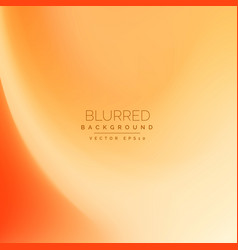 Abstract orange blurred background vector