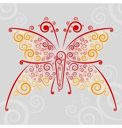 Abstract url techno-butterfly vector