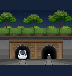 An underground train transportation vector