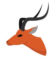 Antelope on white background vector