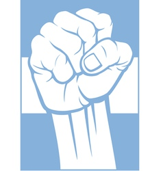 Argentina fist and flag vector