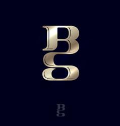 b s monogram logo combined letters emblem vector image