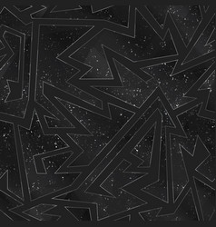 black mosaic seamless texture with grunge effect vector image