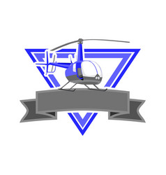 Blue heli esport logo vector