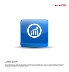 business presentation icon - 3d blue button vector image