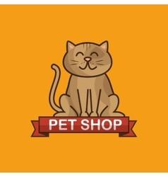 Cat pet shop icon vector
