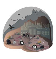 City dump landfill solving environmental vector