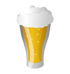 cold glass beer foam vector image
