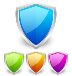 colorful glossy shields vector image