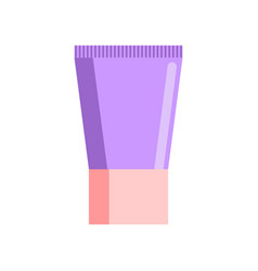 Cream tube isolated tuba cosmetics on white vector