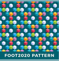 Cube isometric seamless pattern design modern vector