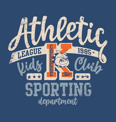 cute bulldog college athletic department vector image