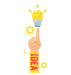 design concept for idea making creative products vector image