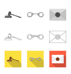 Design of law and lawyer sign collection vector