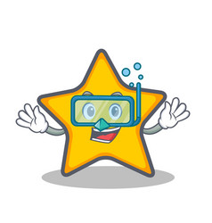 diving star character cartoon style vector image