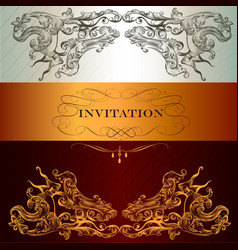 elegant invitation card for menu or wedding vector image